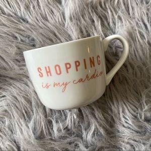 Opalhouse Cream & Pink Shopping Is My Cardio Mug